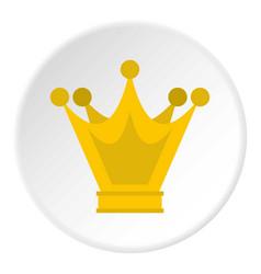princess crown icon circle vector image