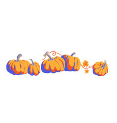pumpkins cartoon objects isolated vector image