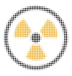 radioactive halftone icon vector image