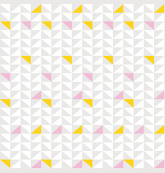 Seamless geometric pattern with small triangles vector