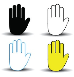 Set of hand icons vector