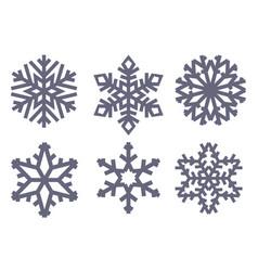 snowflakes black flat symbols vector image