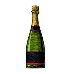 Sparkling wine bottle vector