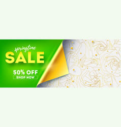 springtime sale shop now get up to 50 percent vector image