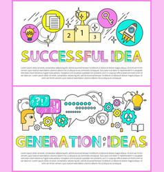 successful idea and generation vector image