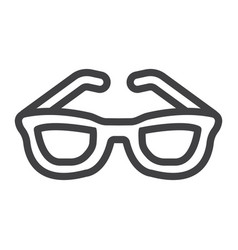 Sunglasses line icon travel and tourism vector