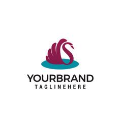 swan logo design concept template vector image