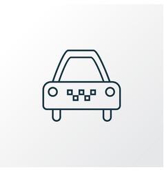 taxi icon line symbol premium quality isolated vector image