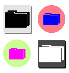 two folder flat icon vector image