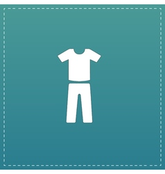 Uniform - pants and t-shirt vector