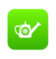 watering can icon green vector image