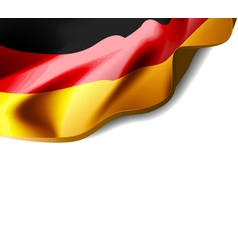 waving flag of germany close-up with shadow vector image