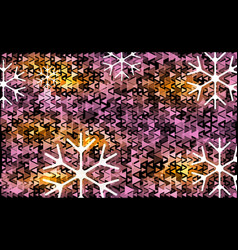 white and violet transparent snowflake christmas vector image