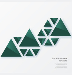 abstract geometric background with green triangles vector image vector image