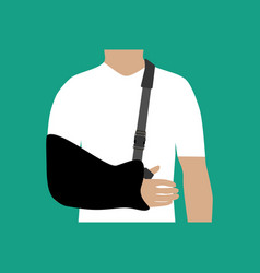 bandage for the hand vector image vector image