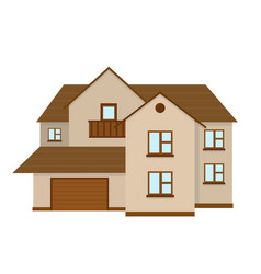 house to create a streetscape flat vector image