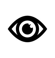 Surveillance eye symbol vector image