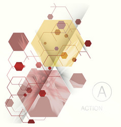 Abstract hexagon background technology vector