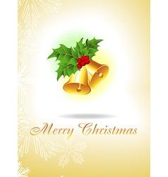 Christmas golden Bells vector image