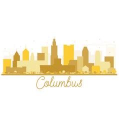columbus usa city skyline golden silhouette vector image