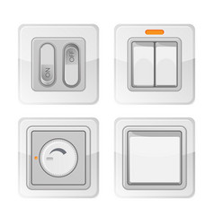 set of electric power switches with on off buttons vector image vector image