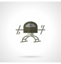 Military robots flat color icon Drone vector image