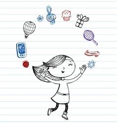 Teens favorite things vector image vector image
