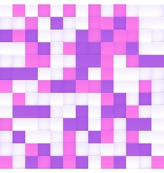 White pink and purple squared mosaic vector