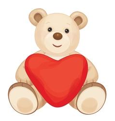 bear heart vector image