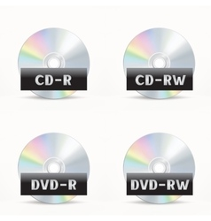 CD-DVD icon vector image