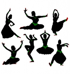 indian dance vector image