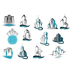 Office telecommunication and residential vector image vector image