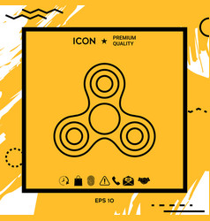 tri spinner icon vector image