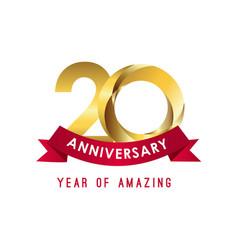 20 year anniversary year amazing template vector