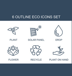 6 eco icons vector