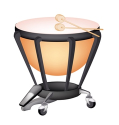 A Beautiful Classical Timpani on White Background vector
