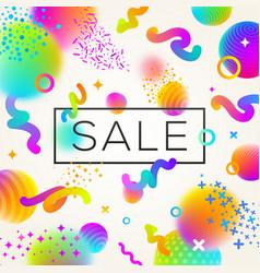 abstract festive multicolored sale design vector image