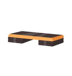 Adjustable step platform or board for aerobics vector