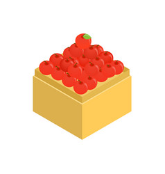 Apple in supermarket icon isometric 3d style vector
