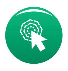 arrow cursor click icon green vector image