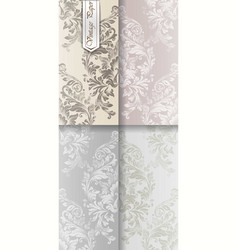Baroque ornament set collection imperial vector