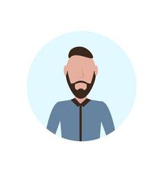 brunette man avatar isolated faceless beard male vector image
