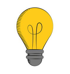 bulb light creativity innovation vector image