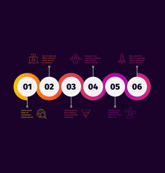 business time line workflow infographic roadmap vector image
