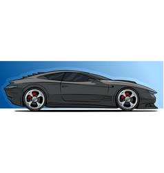 cartoon cool modern black sport racing car vector image