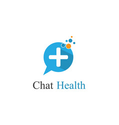 chat health logo vector image