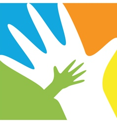 Child and parent hands vector image