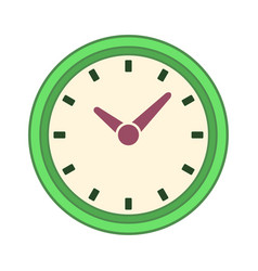 Clock time symbol vector
