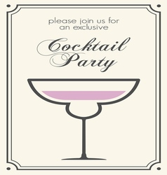 cocktail party invitations2 vector image