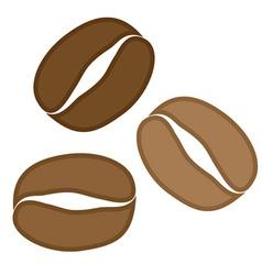 Coffee grains vector